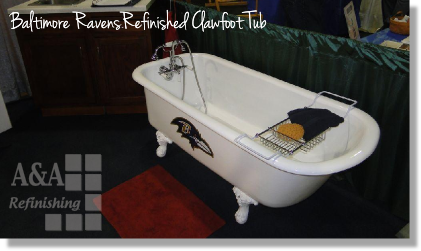 Baltimore Ravens Refinished Clawfoot Tub